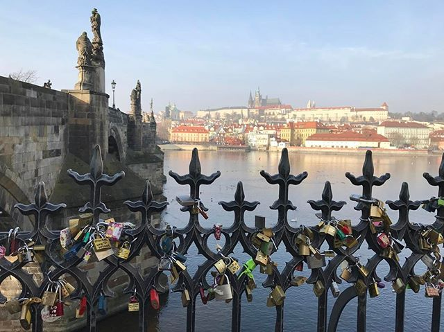Love Locks on St. Charles Bridge . . . #stcharlesbridge #prague #charlesbridge #lovelocks #locksforlovers #jaimefanellipersonal #frommyview