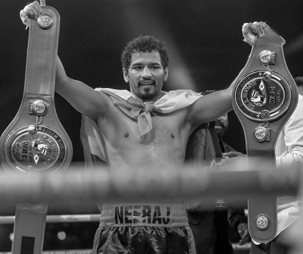 "NEERAJ ""GANGSTER"" GOYAT - Welterweight 10 - 3 - 2 (2 KOs)WBC Asian Boxing Council Welterweight ChampionOne of India's top boxing stars, Neeraj Goyat has made his mark in television and on the big screen. Goyat has become a Bollywood star, starring in the new film Mukkabaaz, which premiered at the 2017 Toronto International Film Festival."