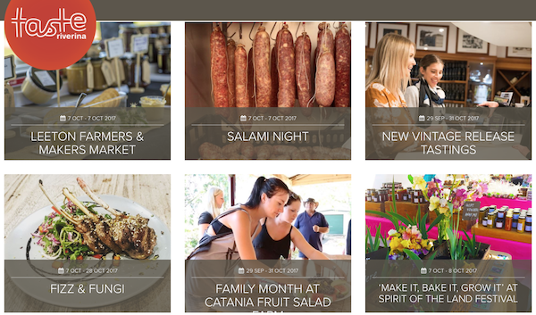 A taste of the range of experiences at Taste Riverina, NSW