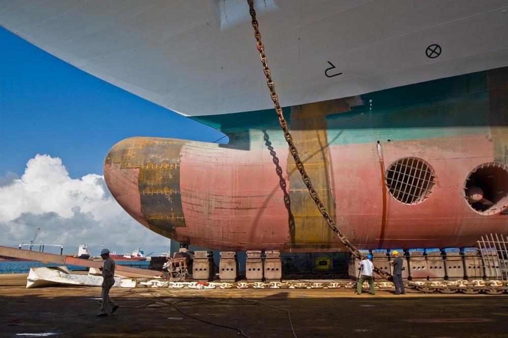 Dry dock: Nassau, Bahamas