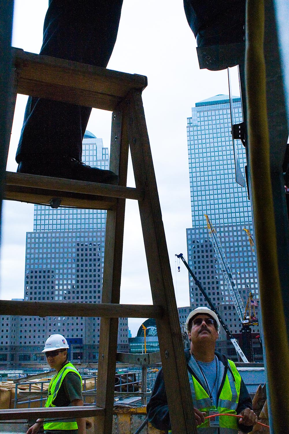 Construction at Ground Zero, 2007
