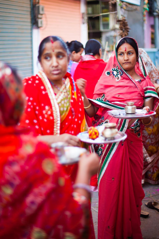 Preparations for the Holika Bonfire: Jaipur, Rajasthan