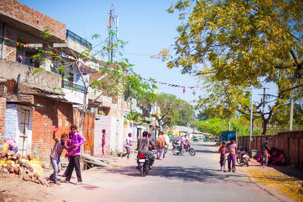 Holi in the streets of The Pink City: Jaipur, Rajasthan