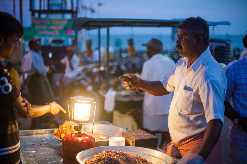 Night market: Kanyakumari, Tamil Nadu