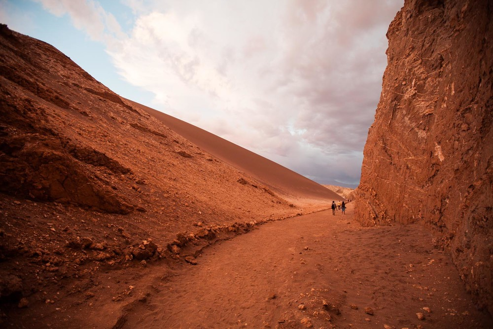The driest place on earth: Valle de la Luna in the Atacama Desert, Chile