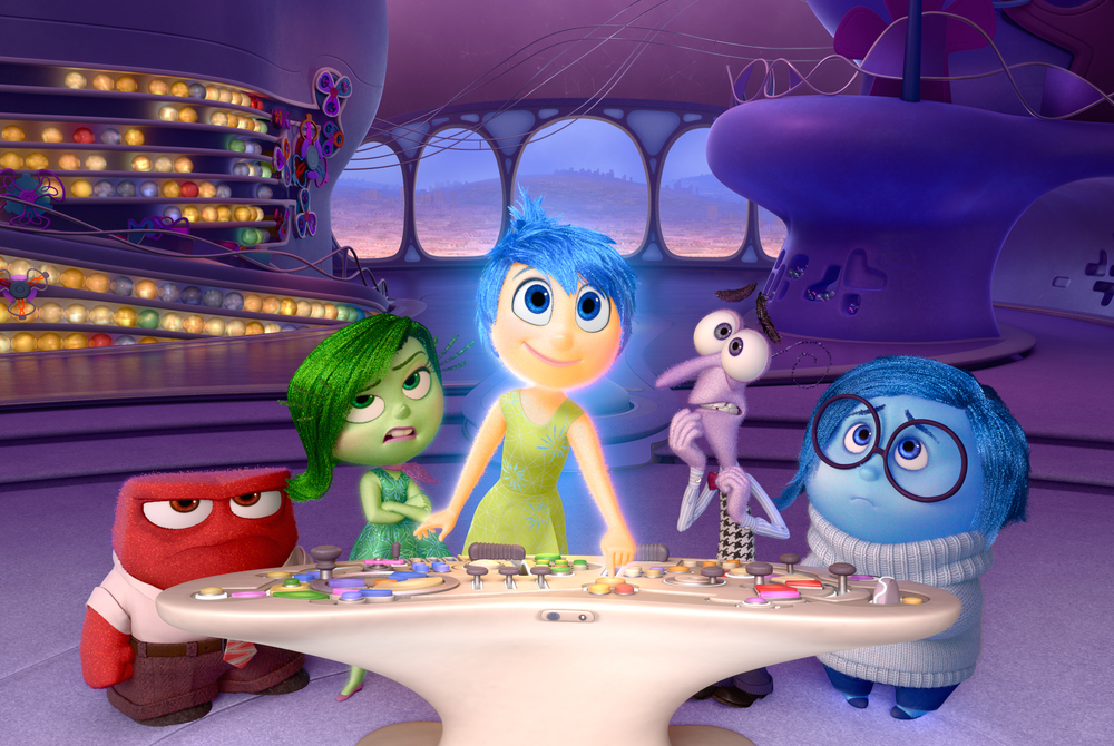 The cast of emotions in Pixar's Inside Out