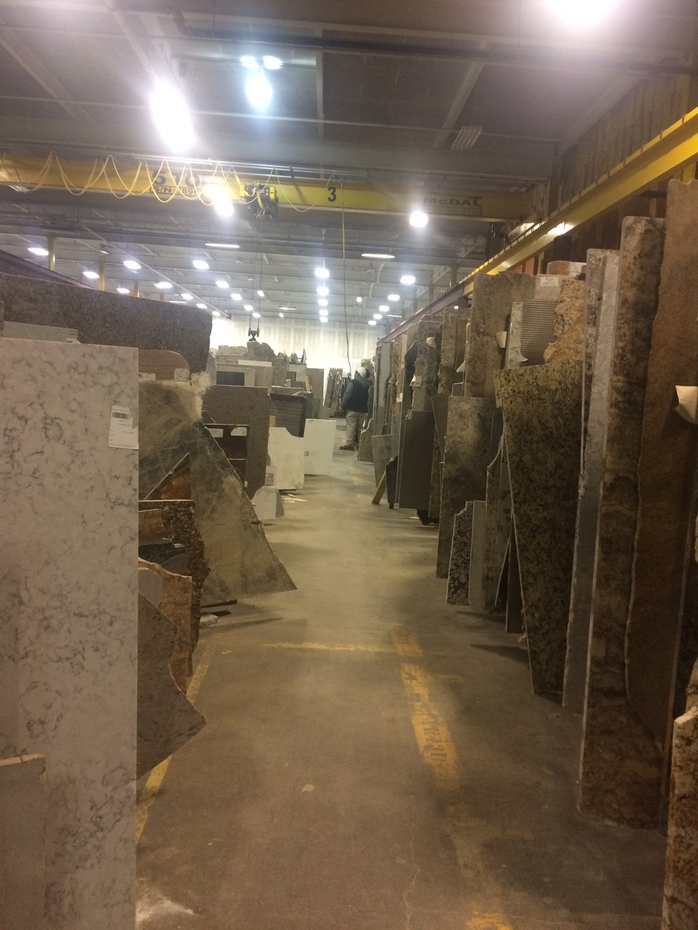 The massive granite and marble warehouse!