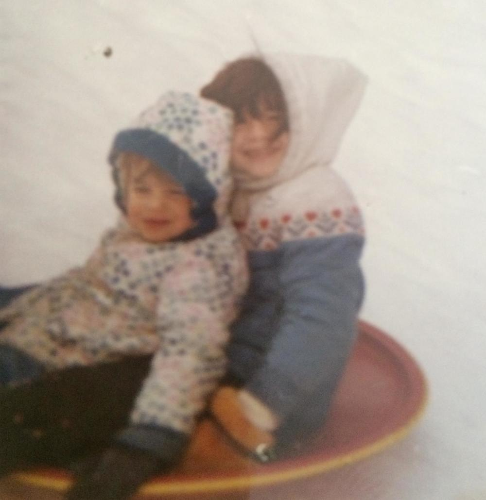 Yup...as you can tell by the quality--this is a real deal picture of me and my sister a few years back!