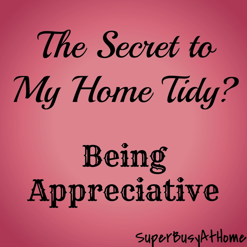 Appreciating What you Have Helps You Keep Your Home Tidy. Super Busy at Home