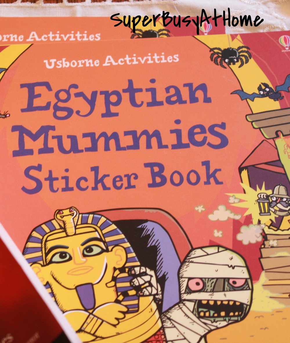 Usborne Egyptian Mummies Sticker Book Giveaway at Super Busy at Home #Superbusyathome #Usborne