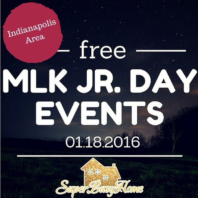 Free Admission tons of places in the Indianapolis area on MLK Jr. Day!  Check it out at Super Busy at Home!