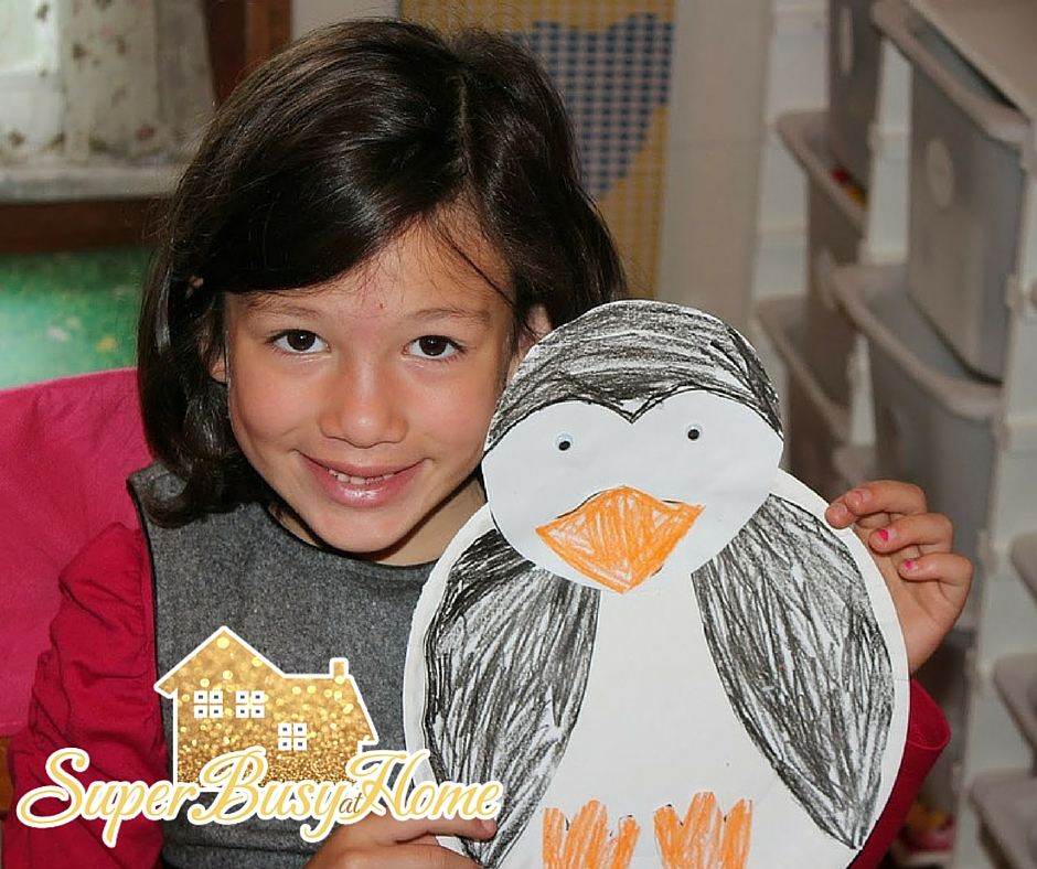 Penguin Unit Study Theme for school, homeschool, or snow day.  Super Busy at Home