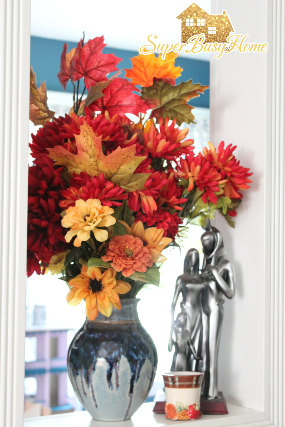 Fall Decor Ideas.  Making a big impact with what you have.  Super Busy at Home