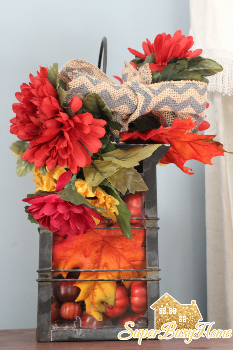 How to decorate your home for fall using what you already have.  Super Busy at Home.