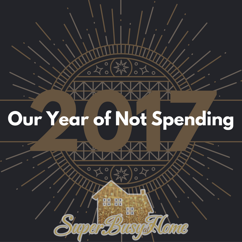 2017 is Our Year of Not Spending!  Follow the journey at Super Busy at Home!