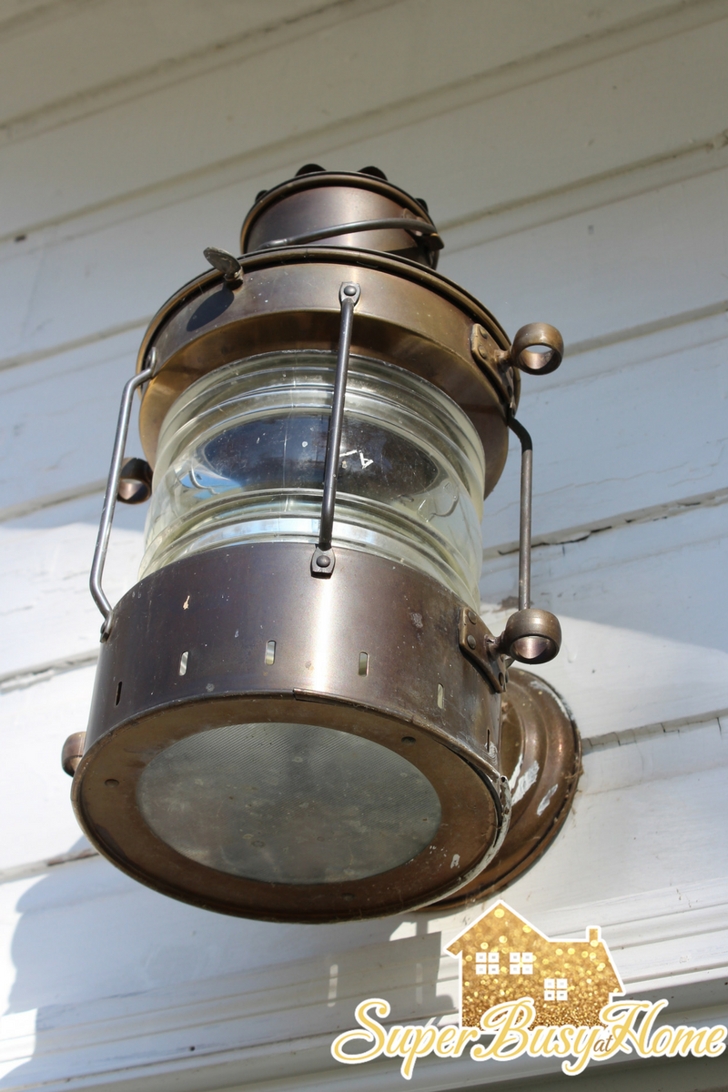 Front Porch light fixture on our lake cottage, Yellow Creek Lake, Claypool Indiana
