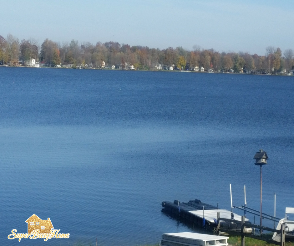 Lake view from our cottage, Yellowcreek Lake, Claypool Indiana