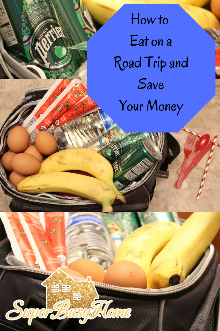 How to pack a lunch and snacks on a road trip on a budget.  Buying snacks and lunch items for the road trip in advance