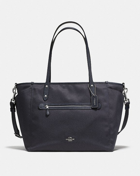 - This bag is similar to my coach baby bag although the pattern of mine has been discontinued.  I love the removable strap...I use it a lot when we are out of town or have a lot to lug around and then usually take it off for every day use.