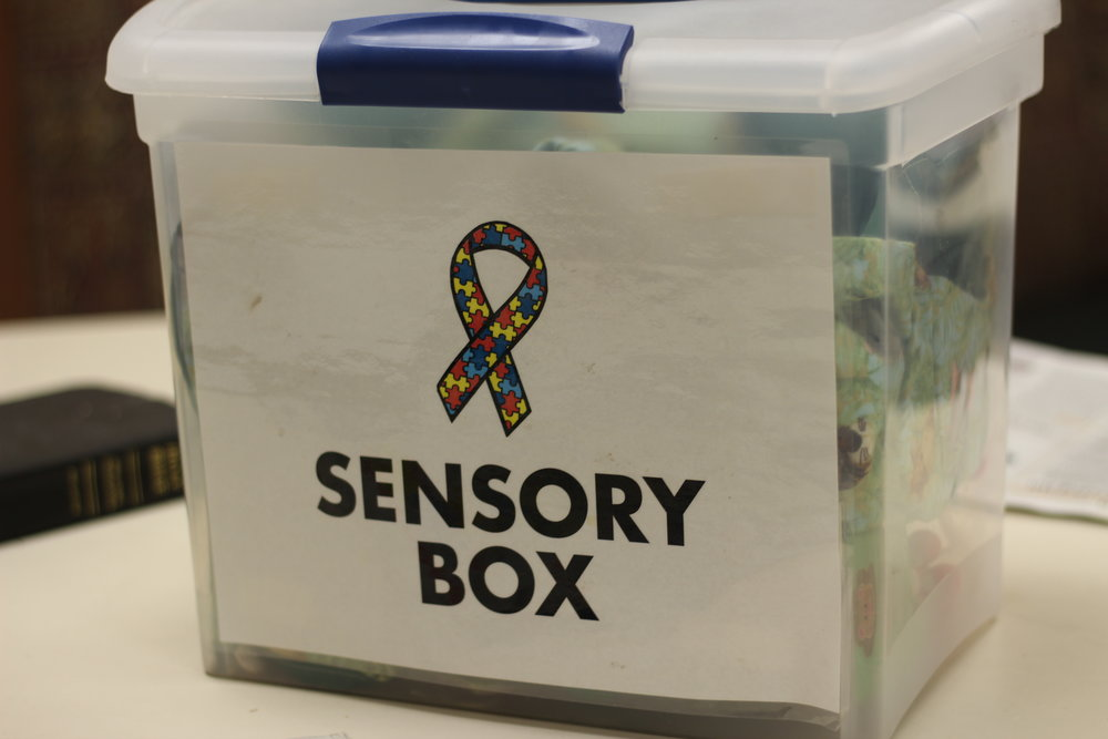 Sensory Box in one of the Quiet Rooms at Conner Prairie, Fishers Indiana