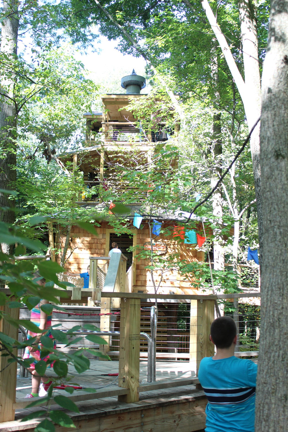 That is one awsome treehouse, Treetop Outpost at Conner Prairie, Fishers Indiana
