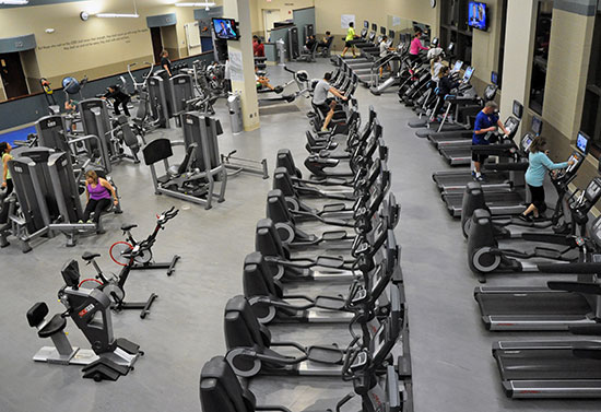 Kroc Center Fitness Room, workout gym, sanctuary of alone time and contemplation, Kroc Center, South Bend Indiana