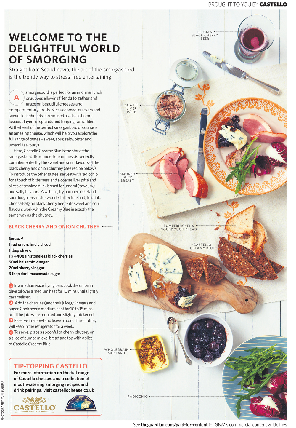 Castello for Guardian COOK - commissioning and art direction