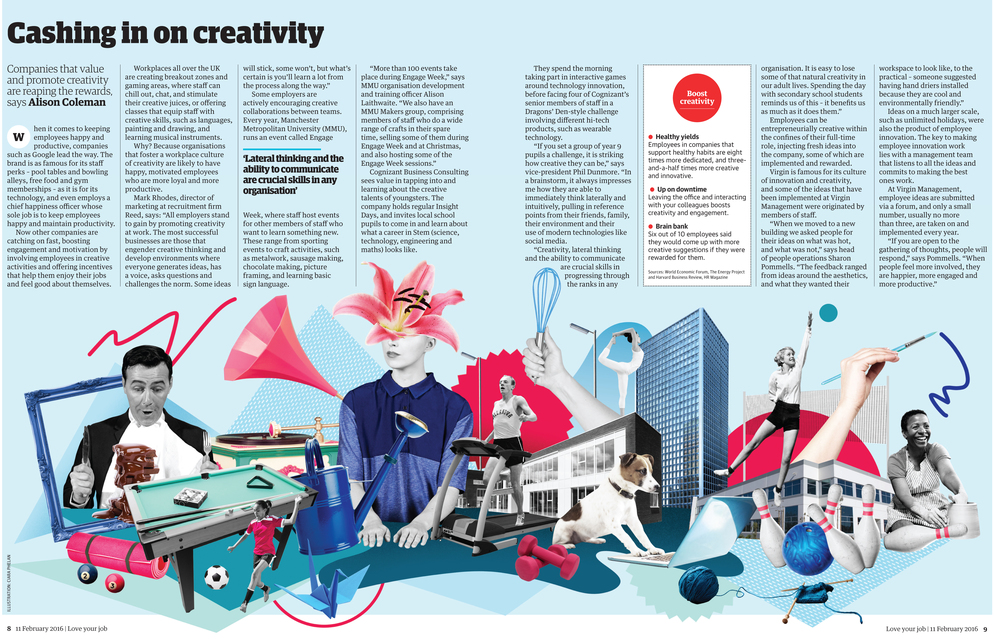 The Guardian's Top Employer's UK. Illustration commission (with image selection)