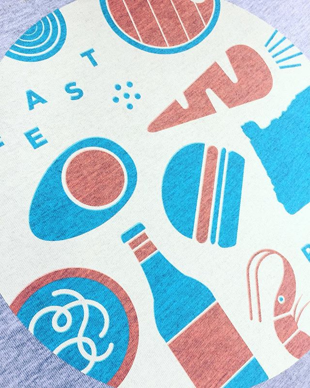 Are you ready to FEAST Portland? @feastportland launched their 80's -vs- 90's line and it's incredible! Designed by the talented team at @pollinateagency and printed by yours truly. We love this collaboration! #feastportland #tourprint #pollinateagency