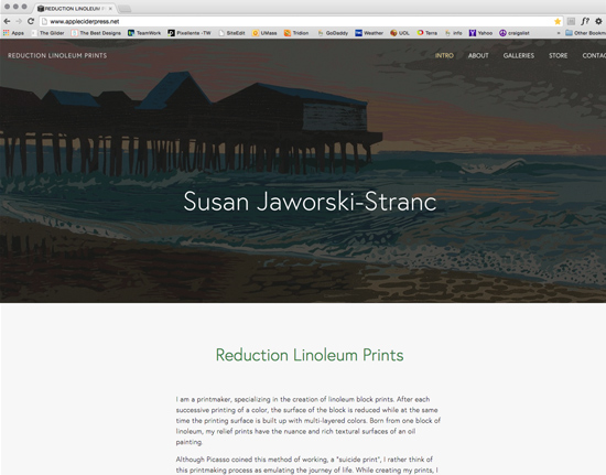 Susan Stranc - reduction linoleum prints