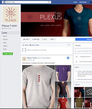 Plexus T-Shirt  - Facebook page and advertising