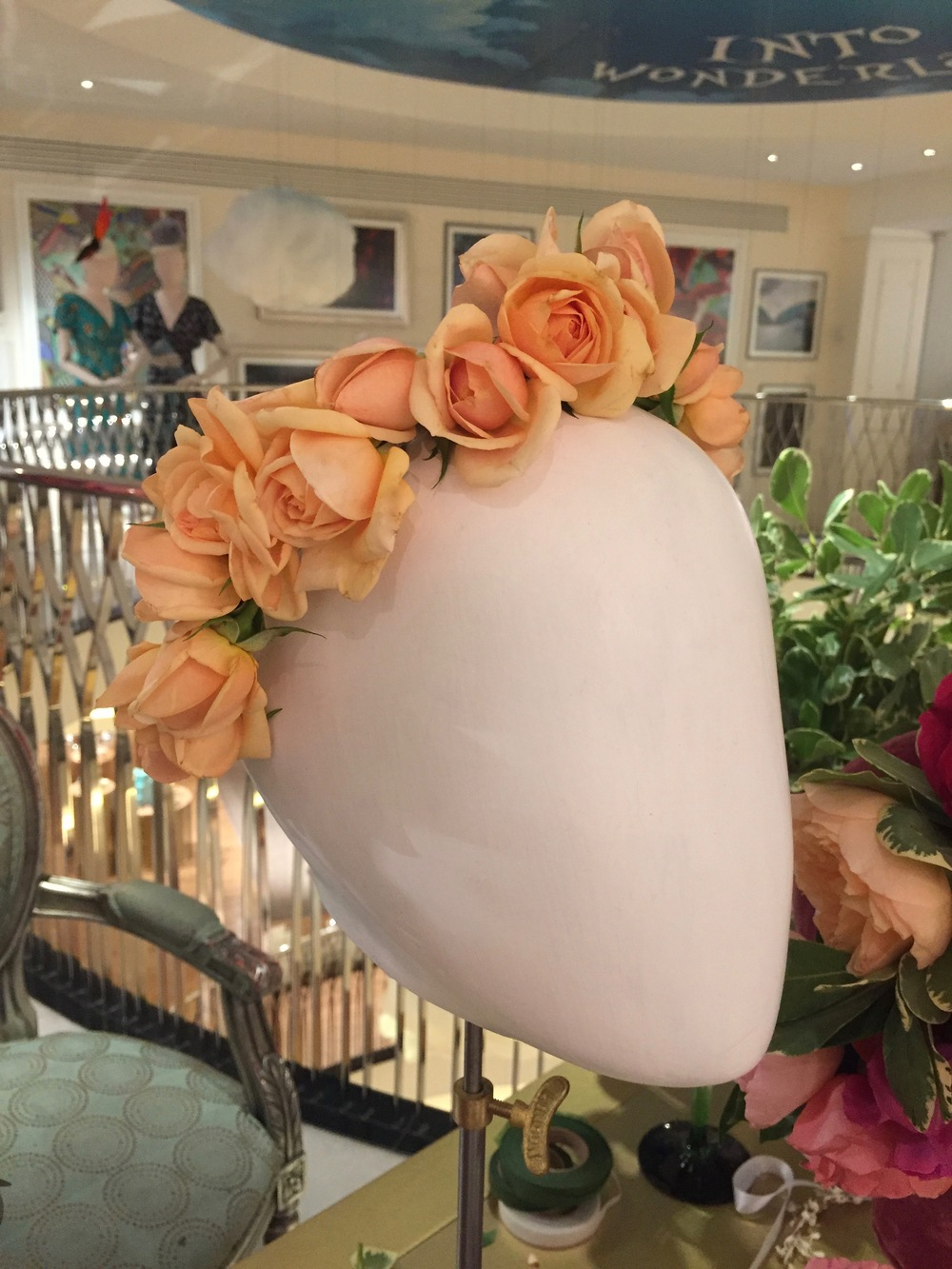 Rose spray crown