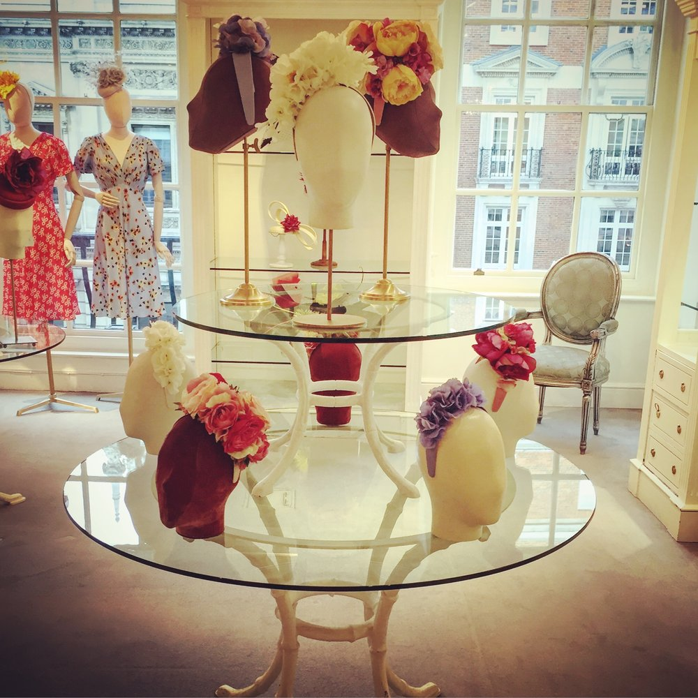Clea Broad S/S 16 Floral Fashion headbands in Fortnum & Mason