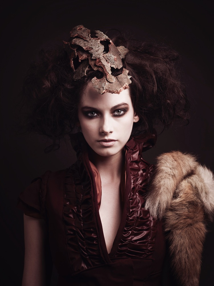 Bark skull crown headpiece. Photography - Andie Redman & Jon Rose / Styling - Andie Redman