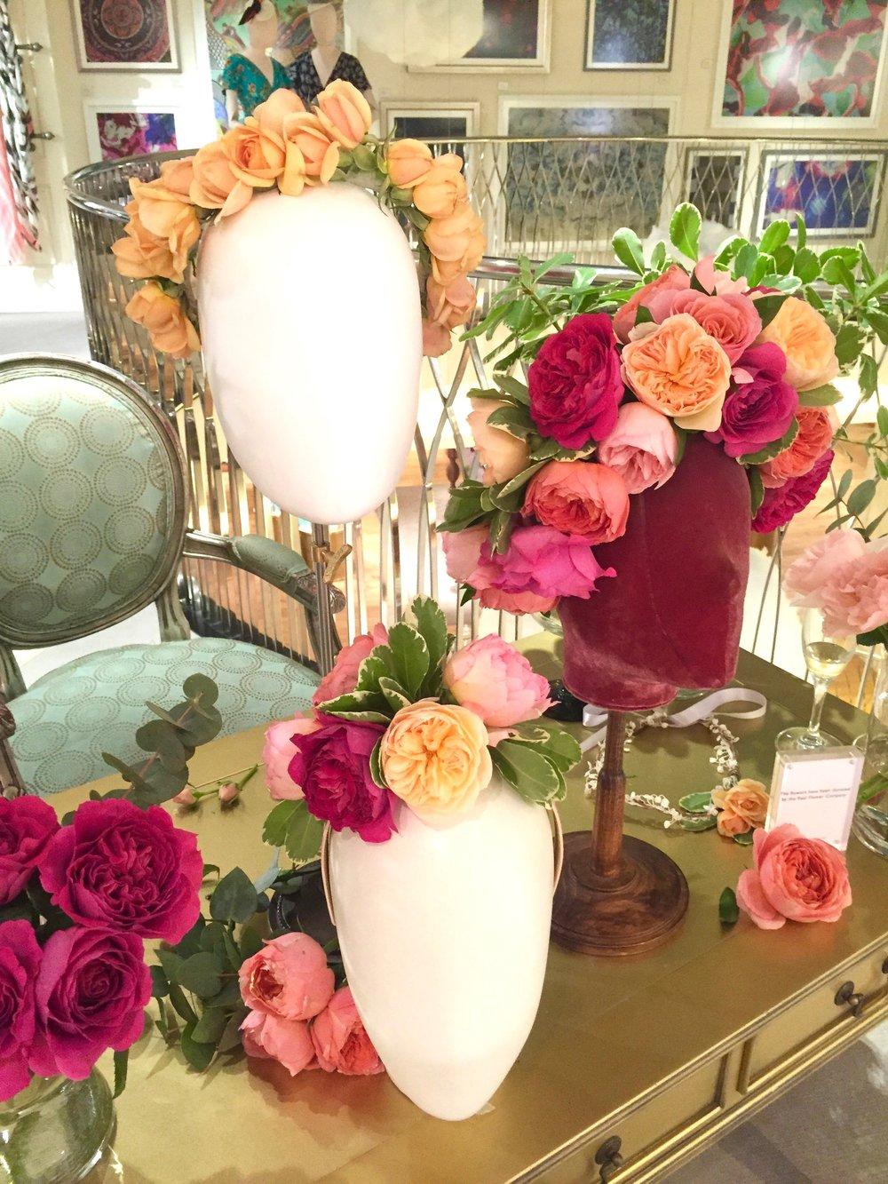 Live floristry demonstration at Fortnum & Mason
