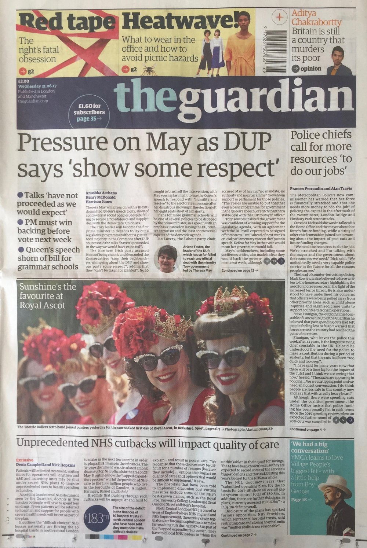 The Guardian Newspaper, 21.6.17