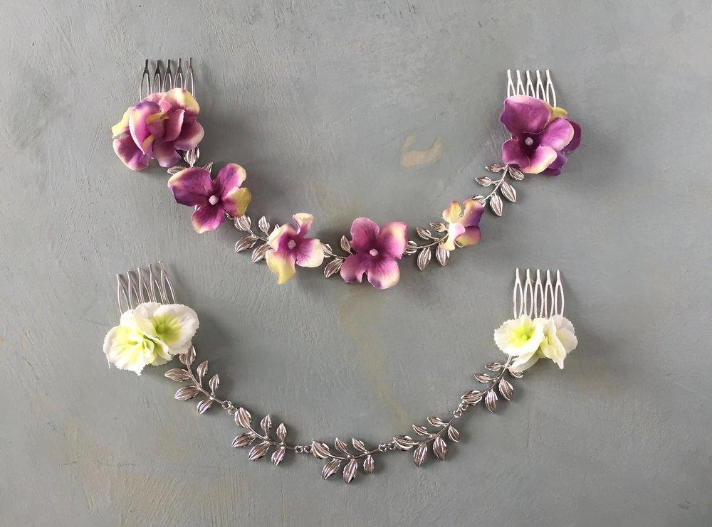 Floral hair chain