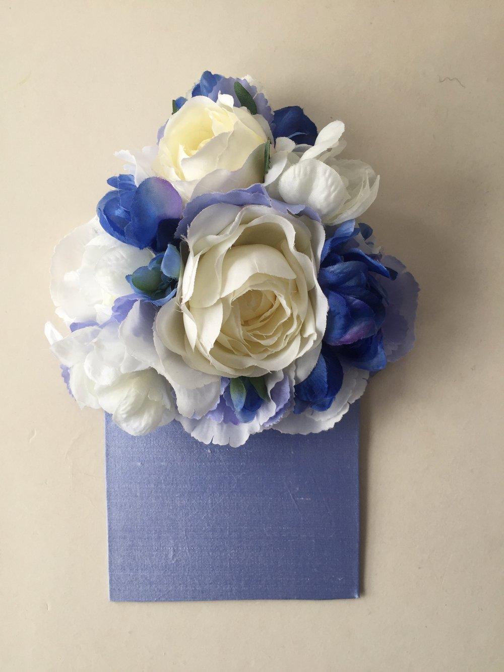Bespoke floral pocket square (front)