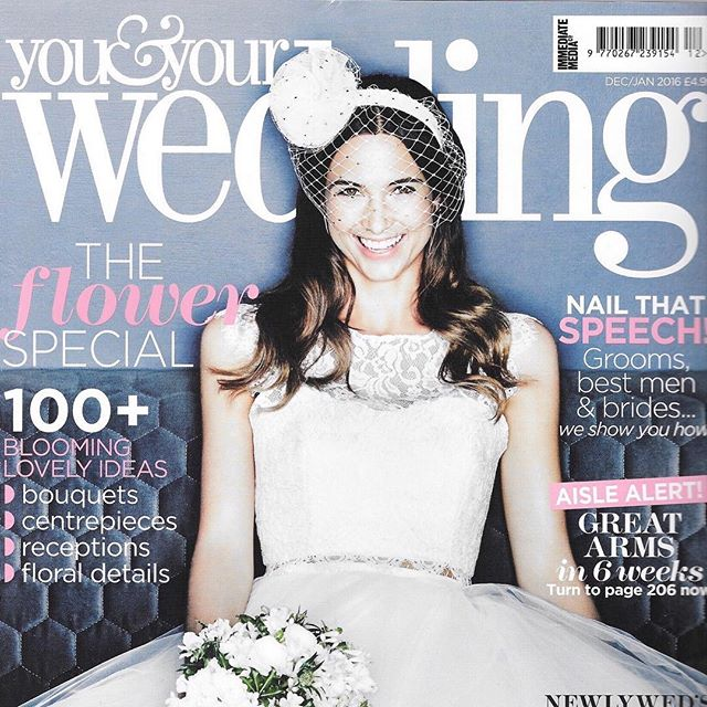 My Venus headband on the front cover of @youyourwedding Dec/Jan 2016 ✨photograph by @jasonmoorephoto / styling by @huntpeta ✨