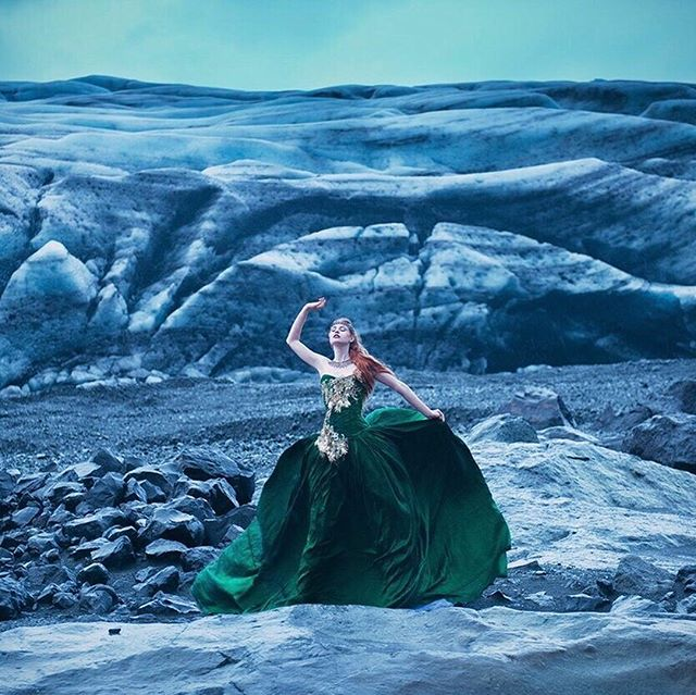 Stunning photo from 2015 by @missaniela, styled by @minnaattala  of @gracegraymodel wearing my lace accessories in #iceland ❄️ #fashion #costume #lace ❄️