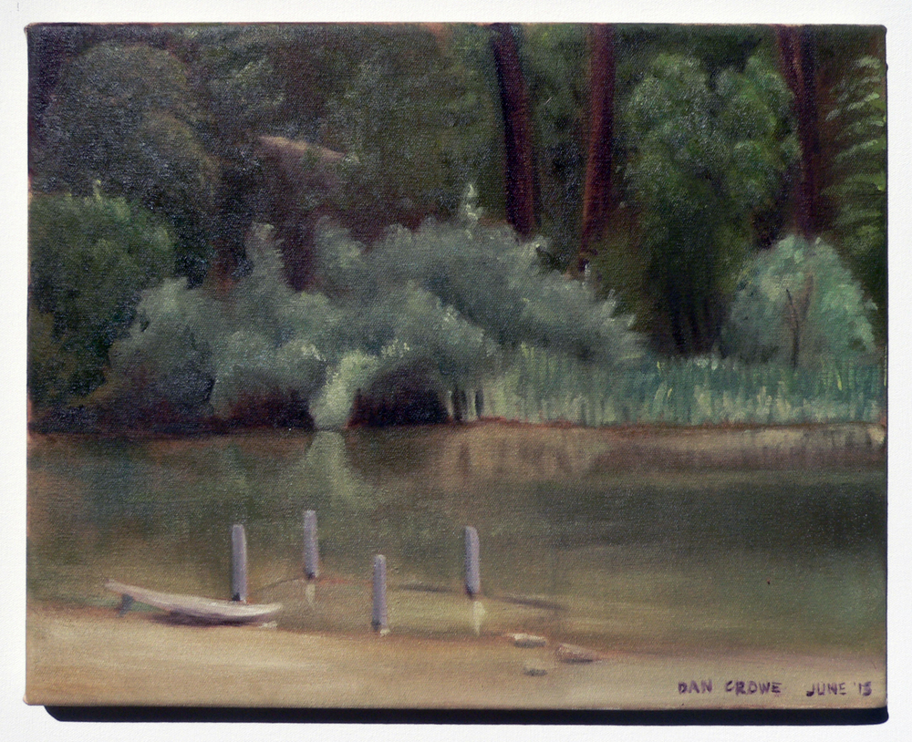 Brandy Creek Beach, Whiskeytown CA,  8 x 10 in.  Oil on canvas. Available for purchase. (2013)
