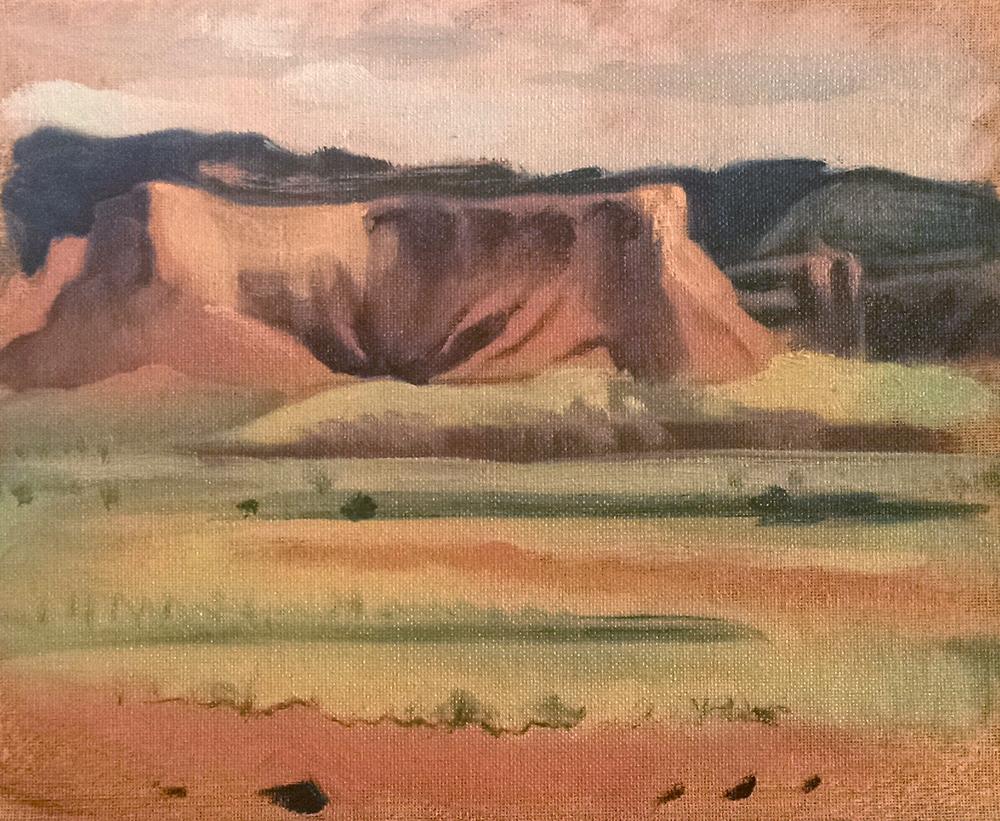 Lukachukai 3, Arizona , 8 x 10 in.  Oil on canvas. Private collection. (2016)
