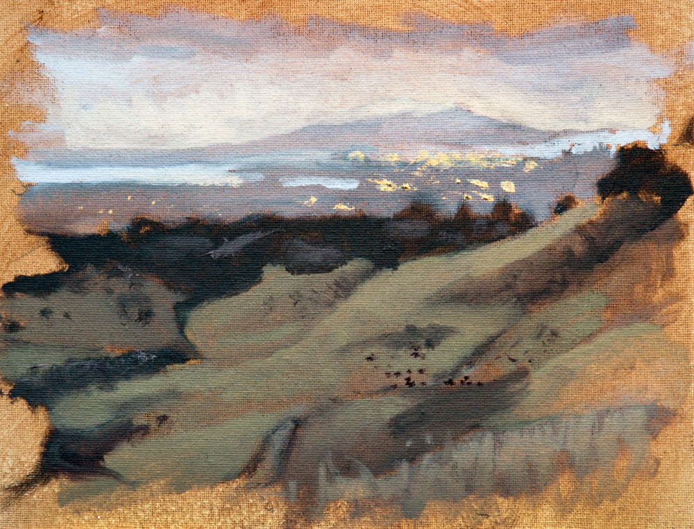 Anthony Chabot Park, Oakland , 8 x 10 in.  Oil on canvas. Available for purchase. (2014)