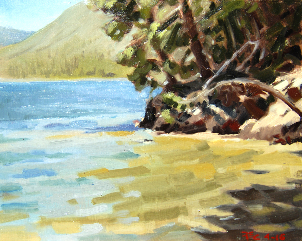 Superintendent's Beach , 8 x 10 in.  Oil on panel. Available for purchase. (2016)