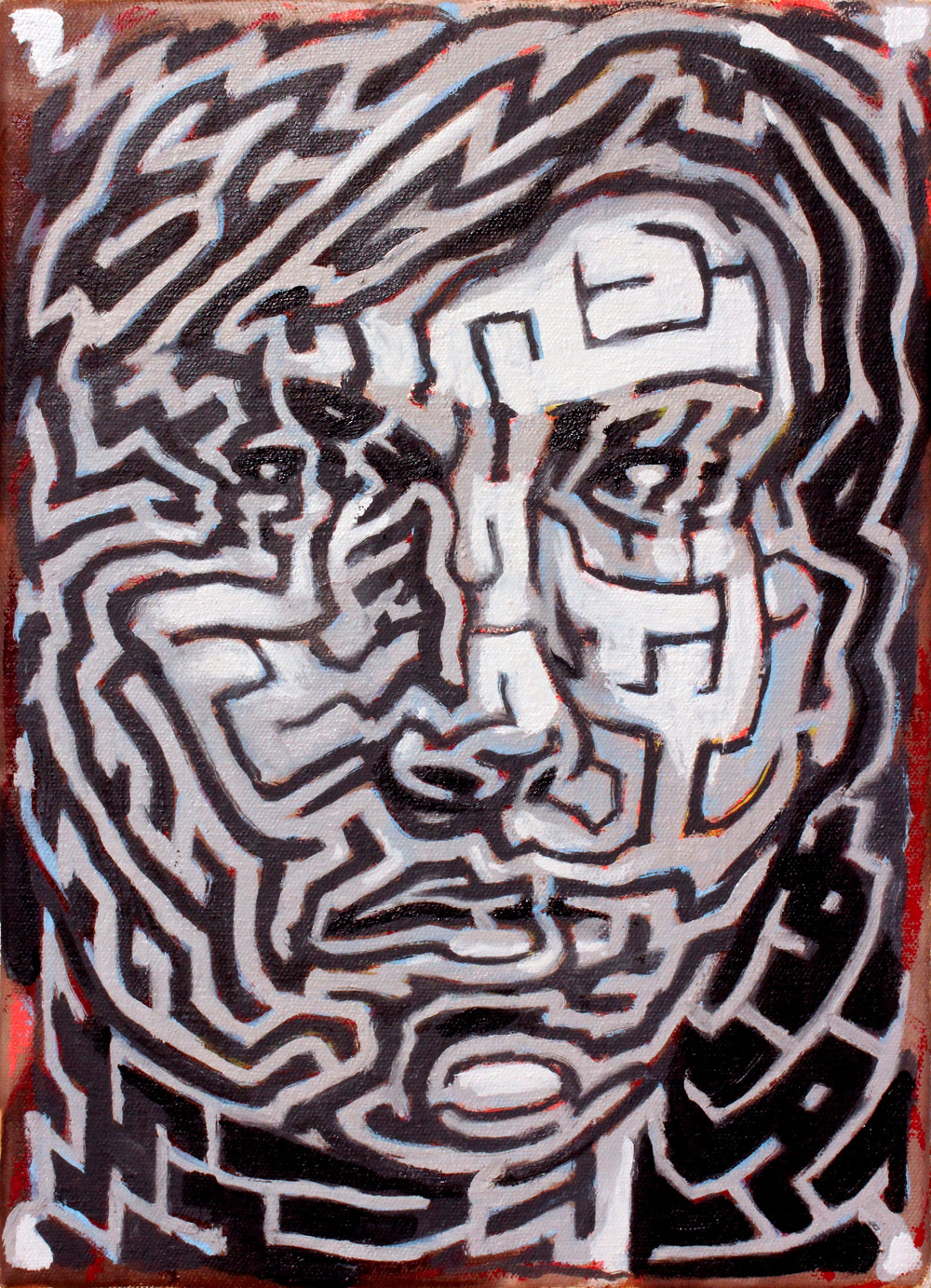 Self Portrait , 12 x 16 in.  Oil on canvas. Available for purchase. (2014)