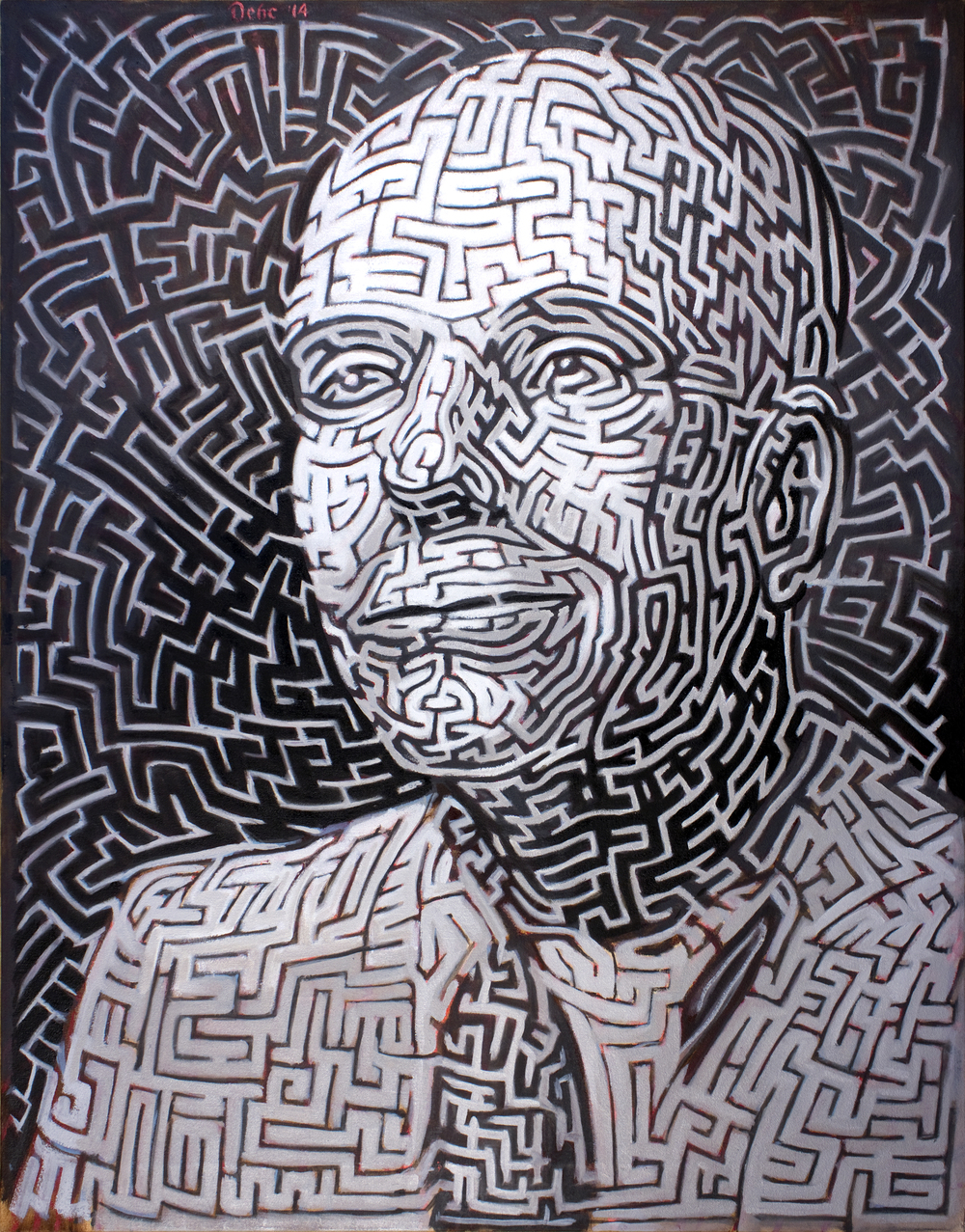 Jorge Luis Borges , 39 x 31 in.  Oil on canvas. Available for purchase. (2014)