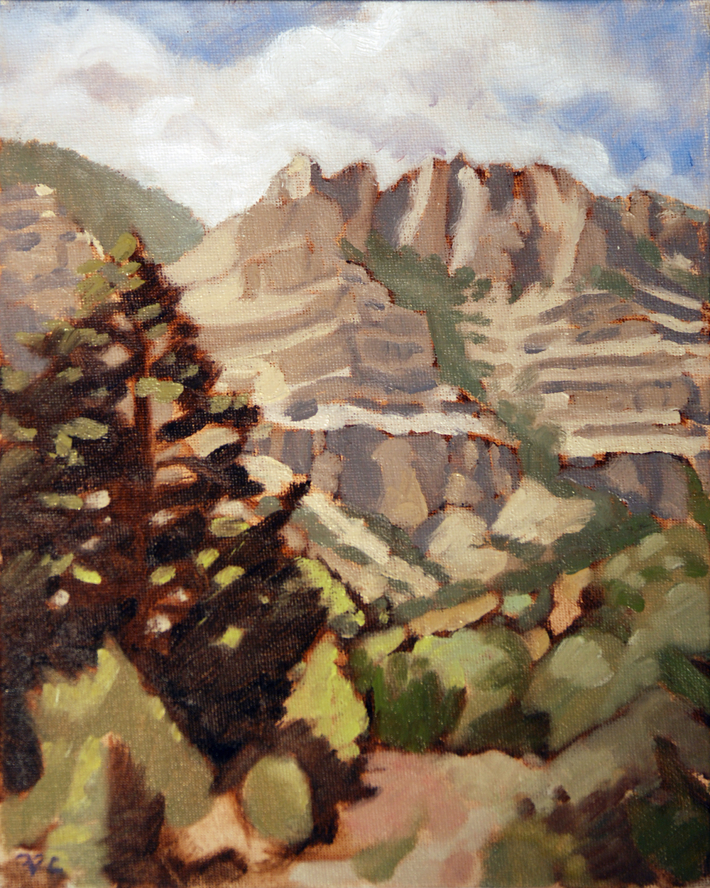 Upper Layout Creek , 10 x 8 in.  Oil on canvas. Available for purchase.
