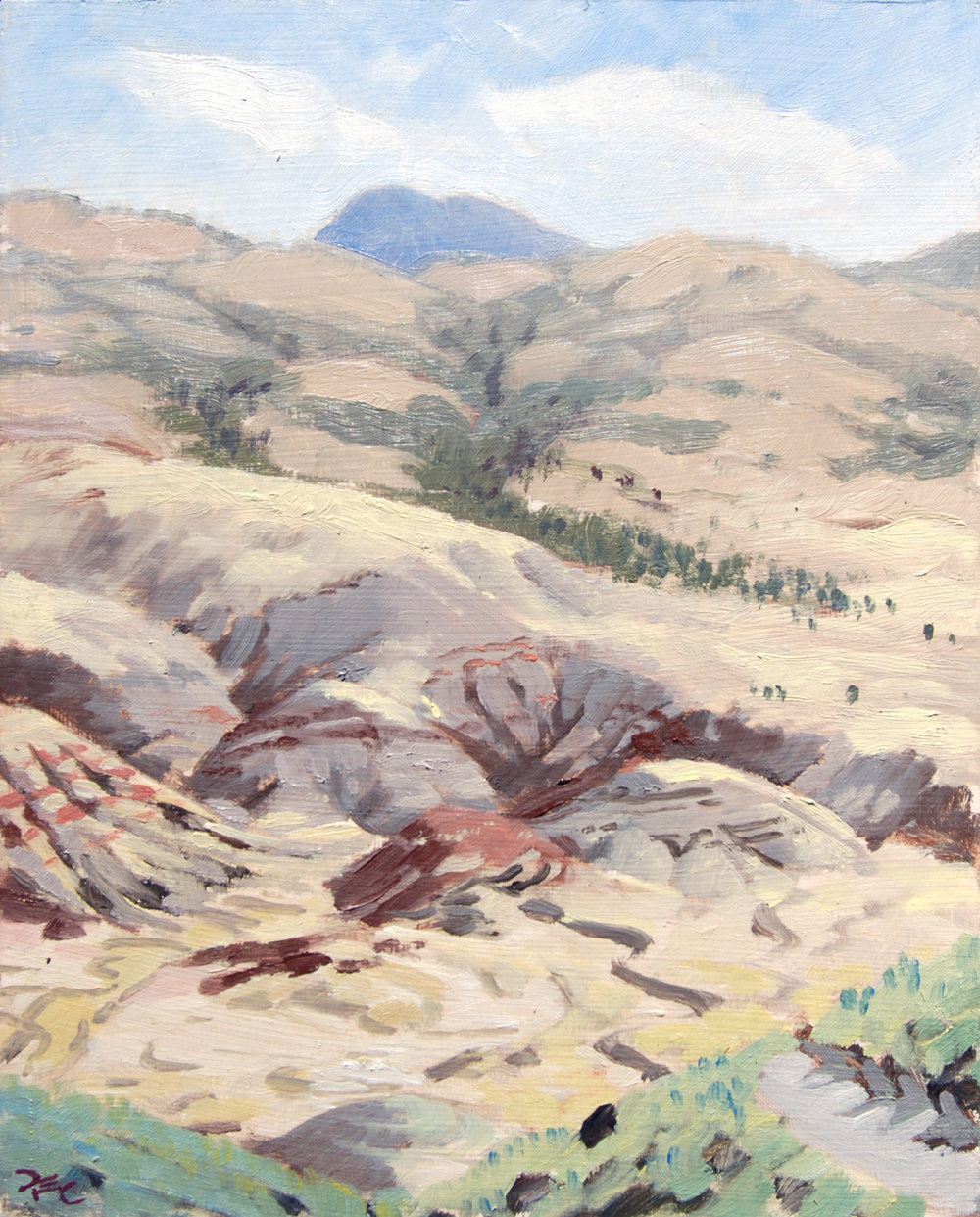 Painted Hills from Carroll Rim,  10 x 8 in.  Oil on panel. Private Collection. (2016)