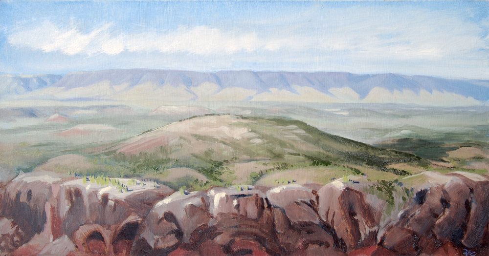 Bighorn Mountains , 8 x 16 in.  Oil on panel. Available for purchase. (2016)