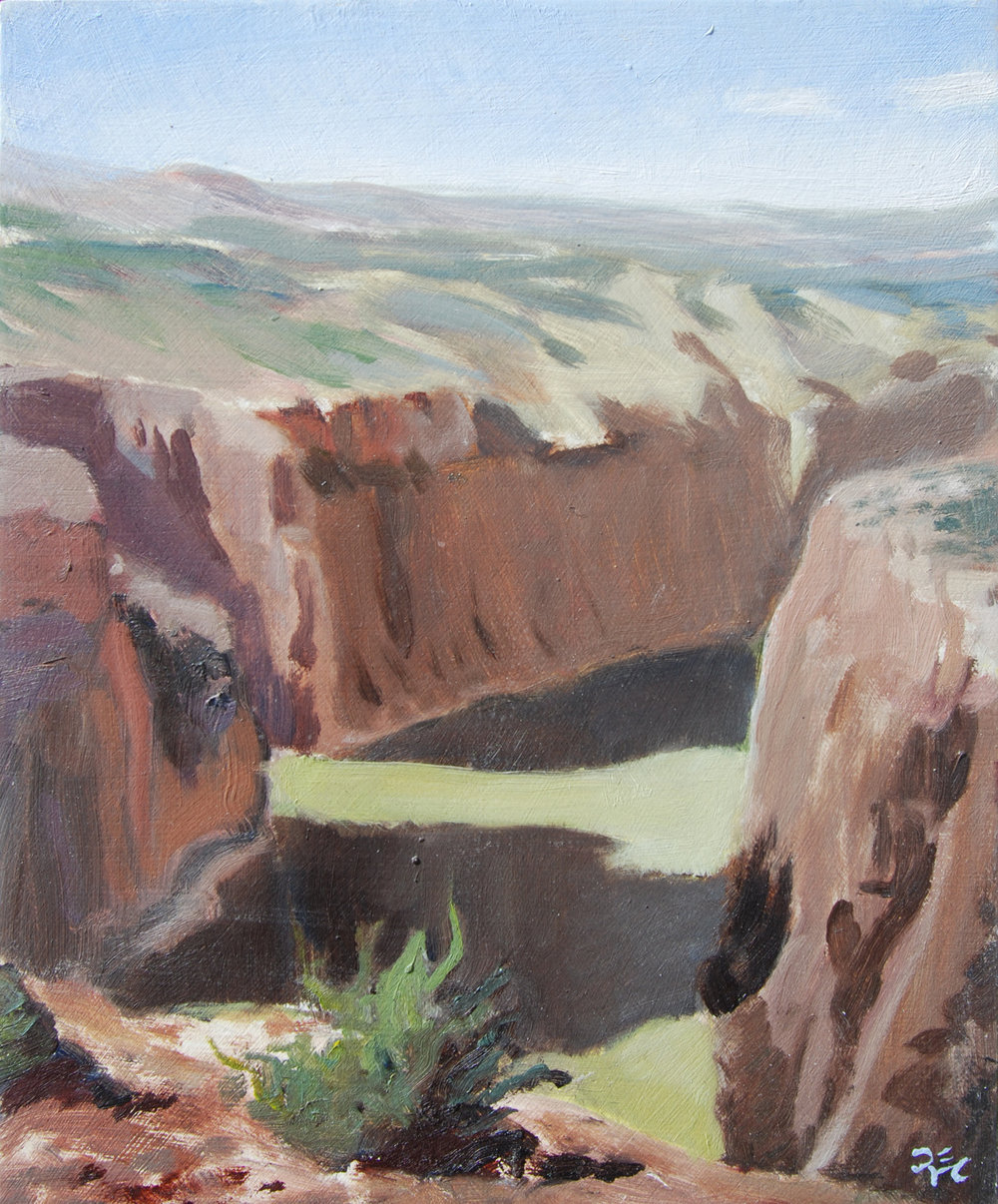 Devil's Canyon Overlook , 10 x 8 in.  Oil on panel. Available for purchase. (2016)